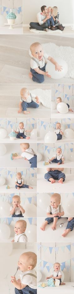 Simple and Pure Cake Smash in Toronto for an adorable little one year old boy | www.jessicanip.com | info@jessicanip.com | Toronto, Canada