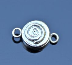 Sterling silver spiral magnetic clasp by charmedsupply on Etsy, $18.95
