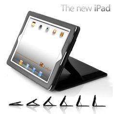 Amazon.com: ZooGue New iPad 3 Leather Case Genius (Black): Computers & Accessories