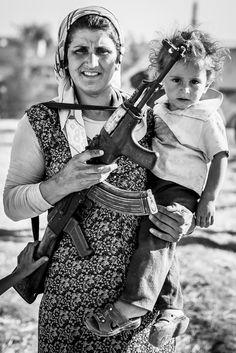 Female Kurdish Fighter in Syria. #syria #female #war www.ulrikp.com