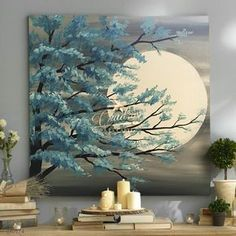 Oil painting Flowers art easy flower painting paul klee flowers thick textured paint on canvas black panther canvas wall art Texture Painting On Canvas, Acrylic Painting Canvas, Acrylic Art, Canvas Wall Art, Painting Art, Moon Painting, Watercolor Painting, Learn Painting, Painting Trees