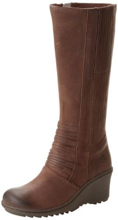 KEEN Women's Zurich High Boot,Coffee Bean, Look at the detail on the front and up the side.