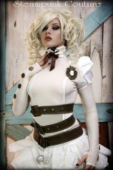 Gorgeous white steampunk