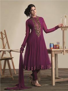 @b3moda Designer Anarkali, Trendy Collection, Anarkali Suits, Dresses With Sleeves, India, Long Sleeve, Model, Blue, Fashion