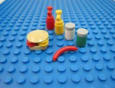 Lego Custom Minibuild Mixed Lot Food BBQ Hot Dog Hamburger Relish Mayo Ketchup | eBay