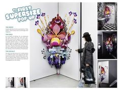 pop up installation - supersize pop up installations in selected public spaces to promote a fragrance line
