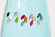 Would you describe yourself as simple, elegant and colorful? Then this piece from DA Metals Jewelry is just your style.