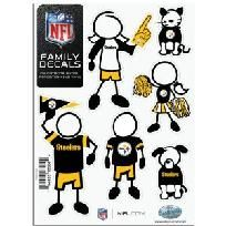 NEW!  NFL Pittsburgh Steelers Small Family Decal Set