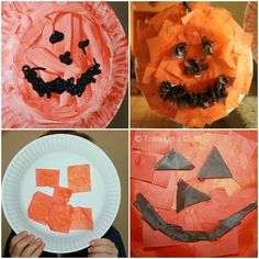 Paper Plate Pumpkin Crafts and Pumpkin Link Up ~ Learn Play Imagine