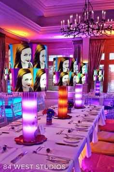 I never tired of working with this theme for Bella's 60s Party Themes, 70s Party, Disco Party, 90s Theme, Party Time, Party Ideas, Art Themed Party, Pop Art Party, Craft Party