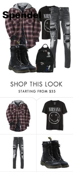 """""""Spendel School 1"""" by pink-penguin1 on Polyvore featuring Other, Gap, Philipp Plein, Off-White, McQ by Alexander McQueen, men's fashion and menswear"""