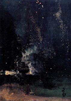 Nocturne in Black & Gold: The Falling Rocket, James Whistler