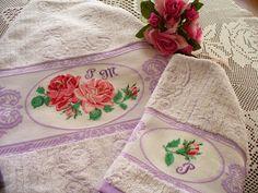Asciugamani con rose per Paola - regalo compleanno