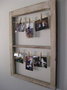Repurposed Window + Hanging Pictures
