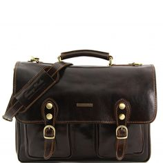 Modena - Leather briefcase 2 compartments TL141134 - Tuscany Leather