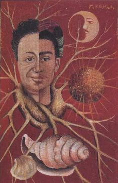 This painting was painted by Firda Kahlo as a present for her husband Diego Rivera on their 15th wedding anniversary. She later repainted another version of this painting to keep for herself. The dates in the title, 1929-1944, speak for their years of marriage (excluding the brief period they were divorced in 1939-1940).