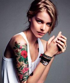 Sleeve Tattoo Design for Women arm