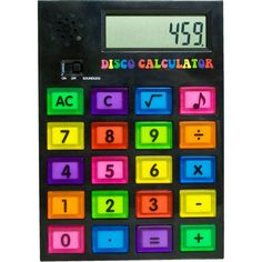Buy Disco calculator today at IWOOT. We have great prices on gifts, homeware and gadgets with FREE delivery available. Old Calculator, Paperchase, Family Night, Cool Tech, Best Gifts, Gadgets, Stationery, Math, Fun