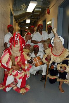 Afro Cuban Lucumi music and ritual dress/paraphenalia