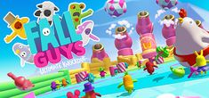 Fall Guys Ultimate Knockout is a funny race game with the main base of physics mechanism where hundreds of players will try to defeat every challenge and run through various crazy obstacles. Chicken Games, Free Pc Games, Tom Clancy's Rainbow Six, Bunny Hat, Fall Wallpaper, Gaming Wallpapers, Ps4 Games, Low Poly, Olympus