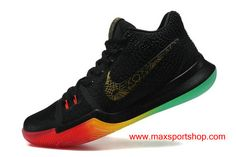 detailed look a5b40 8f732 Nike Kyrie 3 iD Black Gradient Rainbow Men s Basketball Shoes New Shoes  2017, Nike