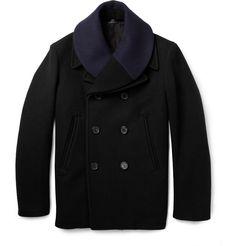 Jil SanderDetachable-Collar Wool Peacoat|MR PORTER