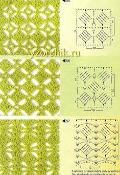 16 Ideas For Crochet Shawl Tutorial Libraries Crochet Stitches Chart, Crochet Motifs, Crochet Diagram, Knitting Charts, Crochet Squares, Crochet Basics, Knitting Patterns, Crochet Patterns, Granny Squares