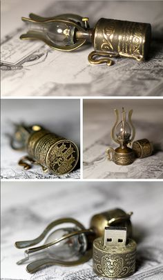 steampunk usb :D Arte Steampunk, Style Steampunk, Steampunk Design, Steampunk Fashion, Steampunk Boy, Steampunk Weapons, Steampunk Cosplay, Steampunk Lamp, Steampunk Necklace