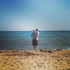 Skipping rocks on Levandi Beach. One of my faves. October 2014
