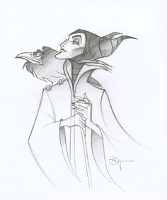 Great Maleficent sketch by #TimRogerson