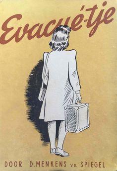 Menkens - van der Spiegel, D. (1946). Evacué-tje. Hoorn: Uitgeversbedrijf Edecea