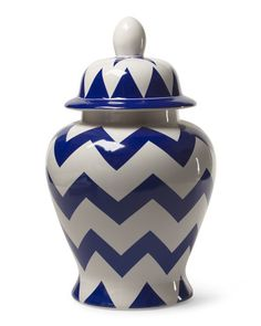 Chevron Ginger Jar