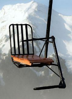 Authentic antique chairlift - original single chair lift from Sun Valley Idaho Sun Valley Ski, Ski Lift Chair, Ski Vintage, Ski Decor, Swivel Rocker Recliner Chair, Ski Posters, Alpine Skiing, Winter Fun, Winter Activities