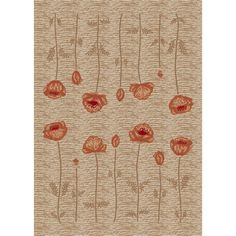 Shop Milliken Poppy 7-ft 8-in x 10-ft 9-in Rectangular Beige Transitional Area Rug at Lowes.com