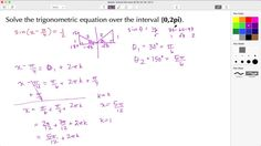 Click hre to learn how to find all of the solutions to a trigonometric equation over a specified interval, We then verify the solutions using the GRAPH, WINDOW and TRACE features of the Horizontal Shift - Sine Function Verify, Equation, Window, Math, Learning, Windows, Math Resources, Studying, Teaching