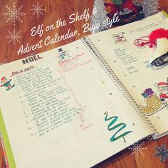 """Soon it will be Christmas time and I'm saving ideas for our elf's tricks and working on an advent calendar for daddy in my bullet journal. Favorite collection so far!  Thank you gifted doodlers who share their tutorials! You can find them all and many more on my """"Manipulating pencils: Let's doodle! """" board : http://pin.it/R2pRmHm Elf on the Shelf board ~ Mister Elf: http://pin.it/5MI"""