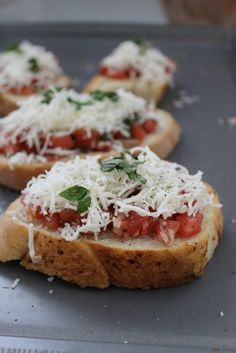 Appetizer Recipes: Homemade Bruschetta Appetizer Recipe