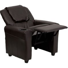 e1da42f2cf7b6 Kids Furniture Chair Brown Upholstered Childrens Living Room Cup Holder  Recliner  DevineBestBuys Chair And A