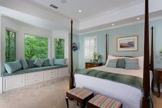 Soothing Master Bedroom and Bathroom - traditional - bedroom - atlanta - Handcrafted Homes, Inc