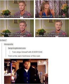 Tom Felton loves everyone and everyone loves Tom Felton. Group crush on cast is pretty much the truest