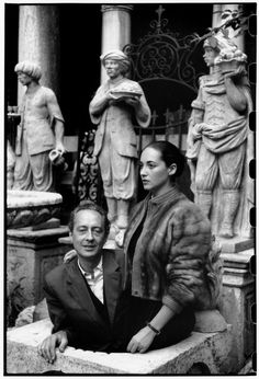 Magnum Photos - Henri Cartier-Bresson // ITALY. Venice. 1952. French writer, André PIEYRE DE MANDIARGUES with his wife Bona who is a painter and sculptor.