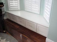 bay window cabinet storage in kitchen - Google Search | Bay Window ...
