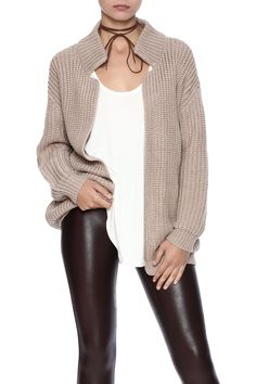 Open knit long-sleeve sweater cardigan.   Comfy Cozy Sweater by Honey Punch. Clothing - Sweaters - Cardigans Louisiana