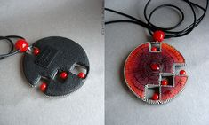 Playing with form...polymer clay pendant | Flickr - Fotosharing!
