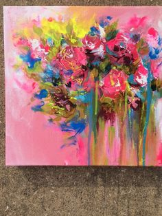 Shabby Chic Summer Flowers Painting by Lana Moes by lanasfineart