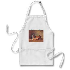 Vintage The First Thanksgiving at Plymouth Adult Apron - thanksgiving day family holiday decor design idea 3 Photo Collage, Painting Apron, Pieter Bruegel The Elder, Baking Apron, Golden Pattern, First Thanksgiving, Kiss The Cook, Kitchen Aprons, Kitchen Linens