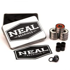 Neal Precision Skate Bearings / 3 Different Types - Ceramic - Swiss - Titanium / - Skateboard - Longboard - Inline - Scooter. The Best Bearings Guaranteed. Skate Bearings, Skateboard Bearings, Skateboard Parts, Skater Look, Skate Store, Cool Skateboards, Inline Skating, Waterproof Stickers, Roller Skating