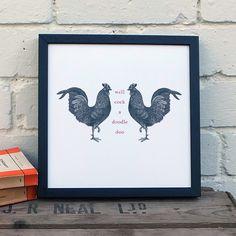 Cockeral Art Print