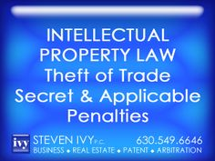 THEFT OF TRADE SECRETS -- Although unregistered, trade secrets protect valuable information, theft of which constitute a crime under both federal and state laws. In Illinois the trade secret issues addressing improper means and misappropriation are codified in the Illinois Trade Secrets Act. The most significant federal law dealing with trade secret theft is the Economic Espionage Act of 1996. The act provides for severe penalties including fines up to $5 million AND 10 years in jail.