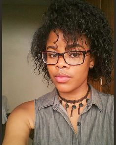 "Titi on Instagram: ""🖤 #nosepiercing #septumpiercing #naturalhair #naturalhairstyles #bantuknotout #bantuknots #curlyhair #glasses #glassesgirl #glassesfashion…"" Bantu Knot Out, Bantu Knots, Curly Hair Styles, Natural Hair Styles, Piercings, Photo And Video, Glasses, Instagram, Fashion"